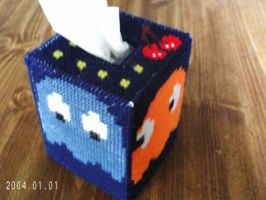 Pac-Man Tissue Box Cover by agorby00