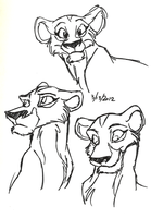 cheerful Zira doodles by Stray-Sketches