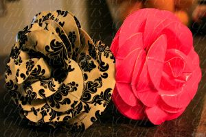 two duct tape roses by lyssalove