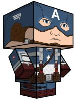 cubeecraft captain america by daouide