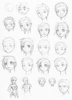 SketchADay 008 faces by freelancemanga