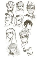 Gravity Falls Characters Fanart by AlbertRemong