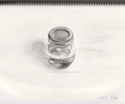 Honey Glass Bottle Sketch by theblindalley