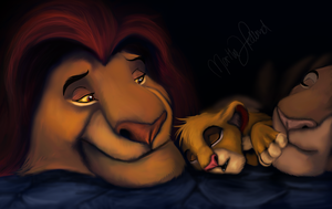 Mufasa's last night by Reenama