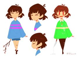 Undertale PMV - Frisk and Chara refs by Glamist