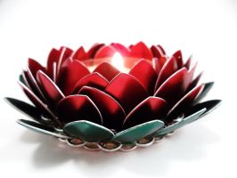 Rose Candle Holder in Scales by SerenityinChains