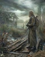 Stalker leaves the swamp ... by Bobrbor