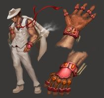 Steampunk Ryu by CrappyArtistTumte