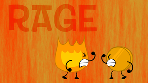 Firey and Coiny's Rage Wallpaper by kitkatyj