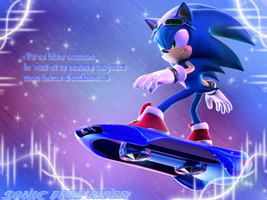 Sonic Free Riders Wallpaper by NatouMJSonic