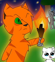 Firestar's got a SAFETY TORCH. by meow-fluff