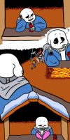 Sans Has Funny Ways of Helping by carrot-cat17