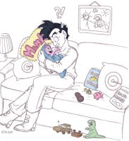 Goten and Piccola, Part Color by rindora