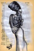 Bride Of Frankenstein Dictionary Art by Undead-Art