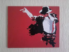 Michael Jackson Painted Canvas by covtown31