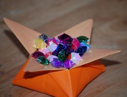 Origami lucky stars by HoneyBee249
