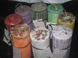 Wheel of the Year Candles by WillowForrestall