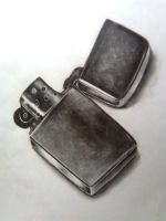 Zippo lighter by JOKERSHADOW666