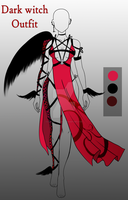 Outfit Adopt Dark witch  (CLOSED) by CherrysDesigns