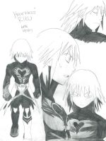 Heartless Riku sketches by GaarasGirl86