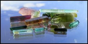 Colorful tourmalines by The-crystal-healer