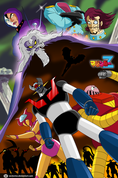 Mazinger Z vs Dr Hell by vectormz