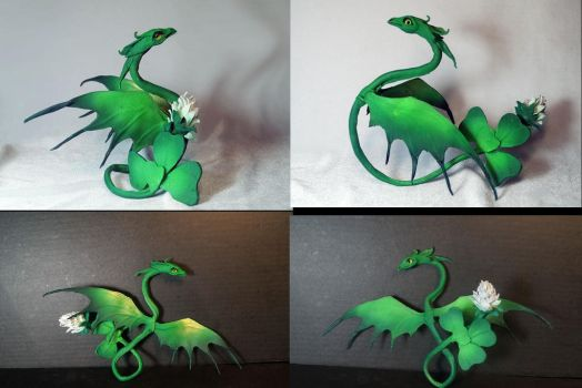 Green Bracelet dragon Toy - Clover by kessan