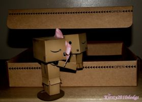 Big kiss for Mr Danbo by Kirsty2010dodgs