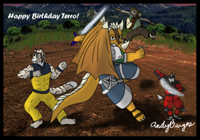 Happy super late birthday -3- by andyburgos