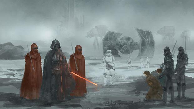 Star Wars Darth Vader and guards by XiaTaptara