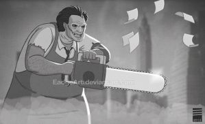 Paper LEATHERFACE by EadgeArt