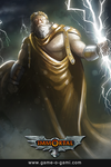 Immortal - Zeus - card game illustration by gameogami