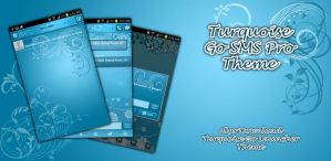 Turquoise Android Go SMS Pro Theme by Jekmyster