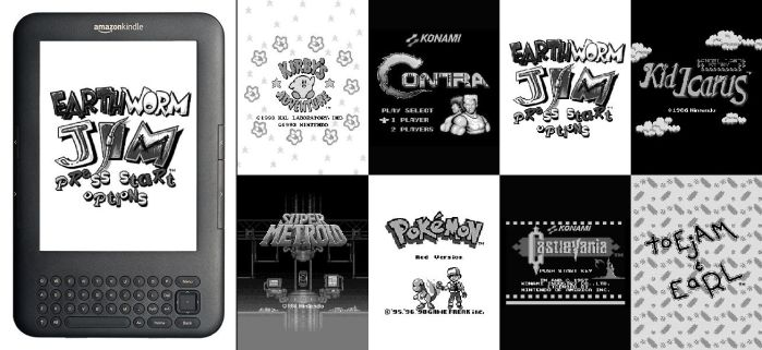 Retro Game Kindle Screensavers by NoSmokingBandit