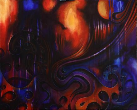 Abstract Journey. Acrylic on canvas by Rick-Lilley