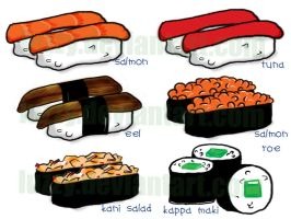 Top 6 Sushi by luzzy