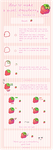 Pixel strawberry tutorial by koffeelam