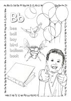 alphabet coloring pages Bb copy by jbeverlygreene