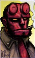 Hellboy's head: some Practice by dio-03