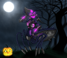 The spideroid lady by Finjix