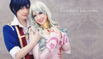 Tengen Toppa Gurren Lagann: Simon and Nia by flakes-sama