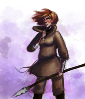 Spear Girl In progress by TheFXGirl