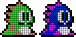 Tetris Bub and Bob Sprite by mike1967-now