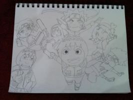 Rock Lee And His Ninja Pals~ by Simba650