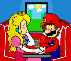 RQ- Mario and Peach by goepink5