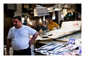 Long Day, Athens Fish Market, Aug 2015 by thelizardking25
