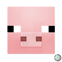 Minecraft - Pig Head Icon by CoopaD