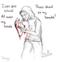 There's blood on my hands! by Haumi-Keiko