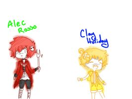 Alec Rosso And Clay Holliday(very old drawing) by mayakins23