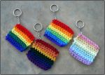 Crocheted Rainbow Keychains by RebelATS
